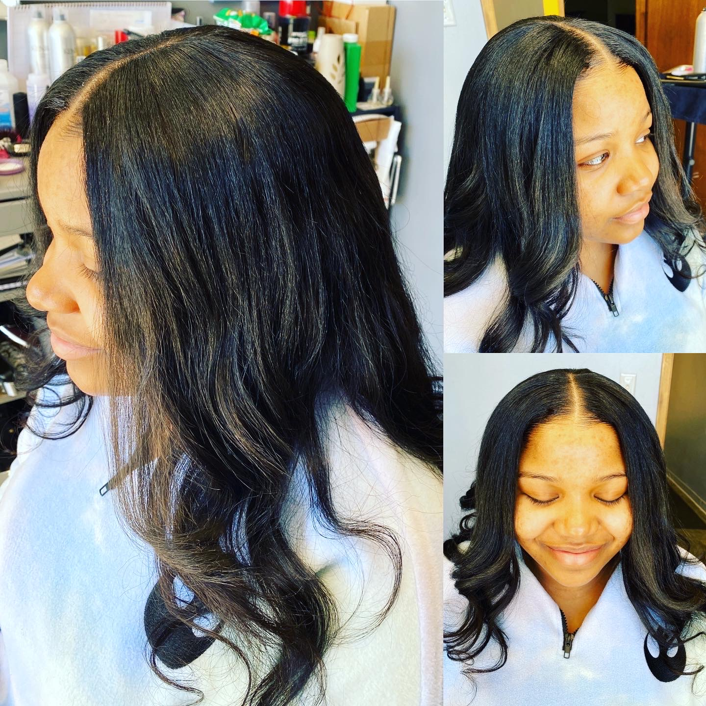 Sew In w/ Leave Out, Wand Curls