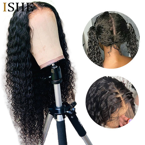 Full Lace Wig: Deep Curly, 100% Remy HH, Pre Plucked, Baby Hair, Brazilian