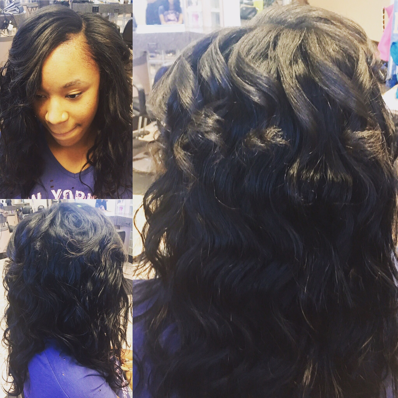 Sew In w/ Natural Hair Leave Out