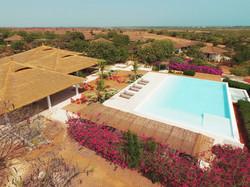 Vue aérienne de la grande piscine