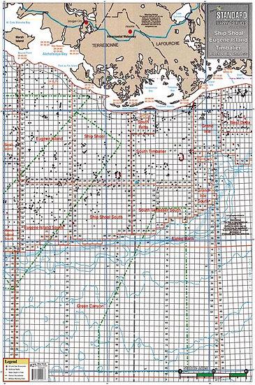 SM027 Eugene Isle/Marsh Isle Block & Rig Chart