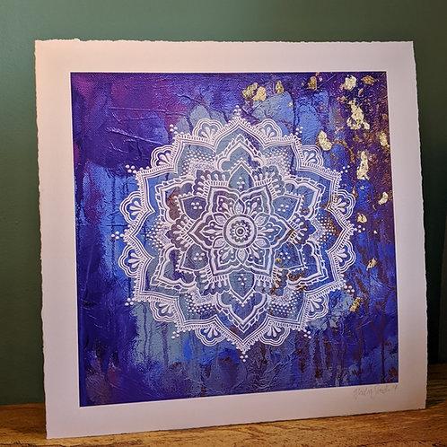 Hydrangea - hand finished print