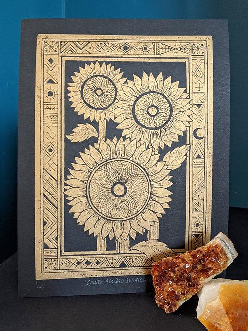 Golden Sacred Sunflowers