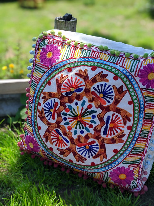Embroidered Chunky Square Floor Cushion