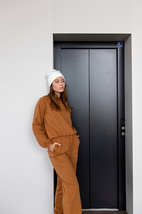 Emalya - Sweatshirts (Camel Brown)
