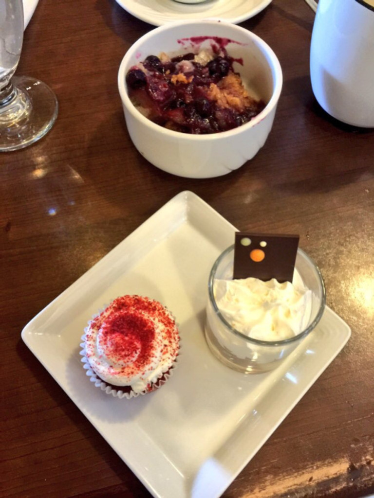 A few of the dessert selections