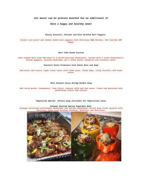 The Burly Chef May 29th Menu