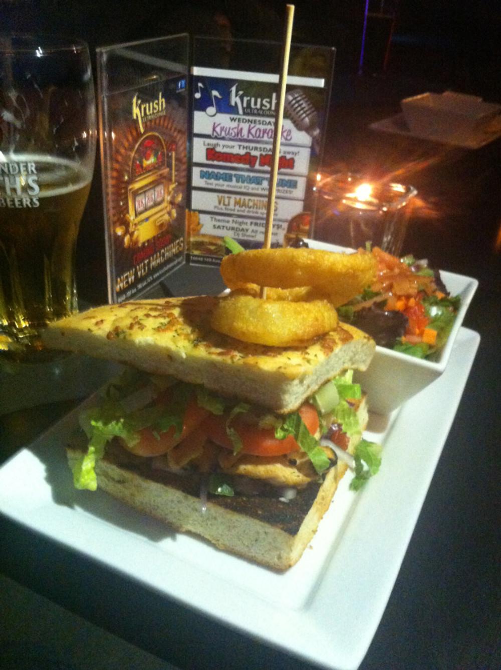 Krush Ultralounge Chicken Burger