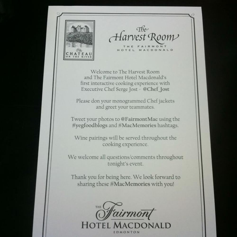 Fairmont Hotel Macdonald Foodbloggers Cook-off