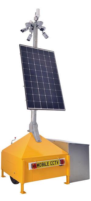 rapid  depolyment mobile cctv tower solar powered speaker
