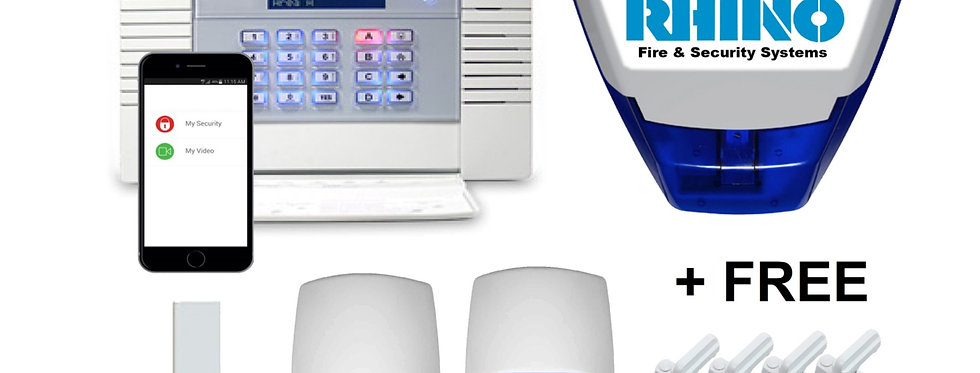 Domestic Wireless App Control Security Alarm System (Fitted)