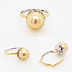 South Sea Pearl Ring | Engagement Ring | Dress Ring | Jeweller Gold Coast