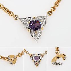 Pendant | Heart shaped pendant on handmade chain necklace
