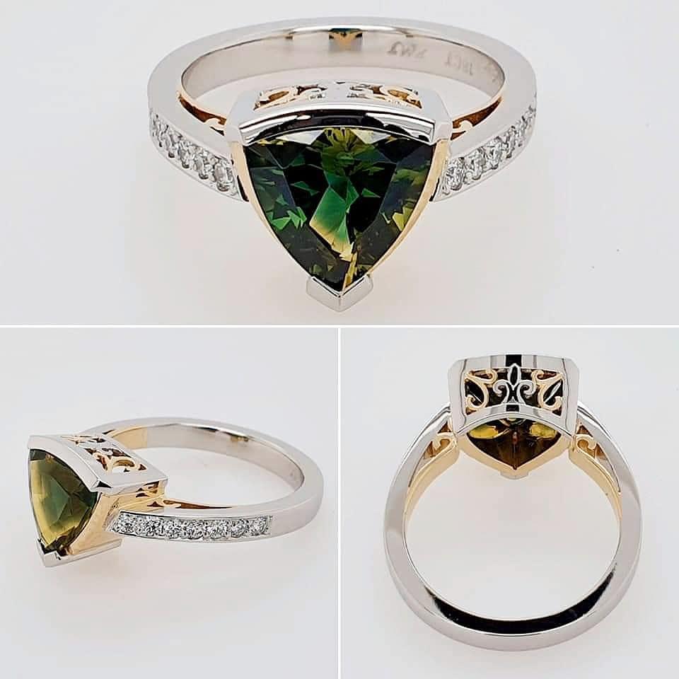 Ladies dress ring | Yellow Gold | Platinum | Engagement ring