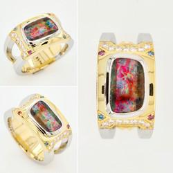 Mens Ring | Opal | Wedder | Diamonds | Yellow Gold | Wedding Ring