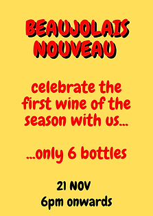 celebrate the first wine of the season w
