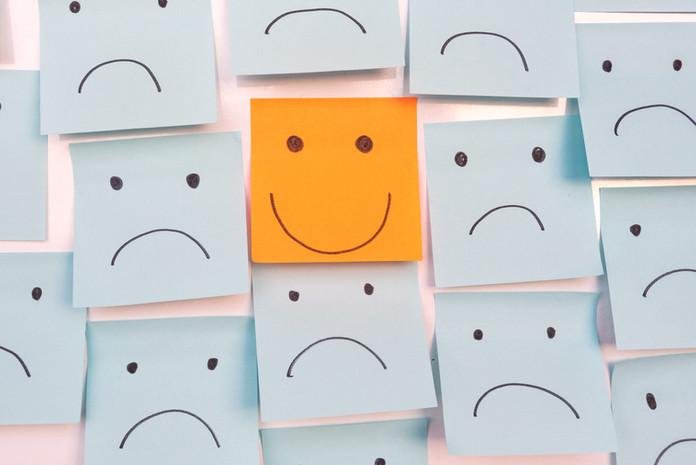Positive Attitude and Happy Concept. Han
