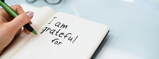 Gratitude Journal Concept. Writing I Am