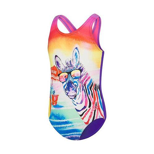 Toddler Girl's Beach Zebra