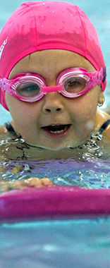 Pre schooler learning to swim at Northern Arena, North Shore