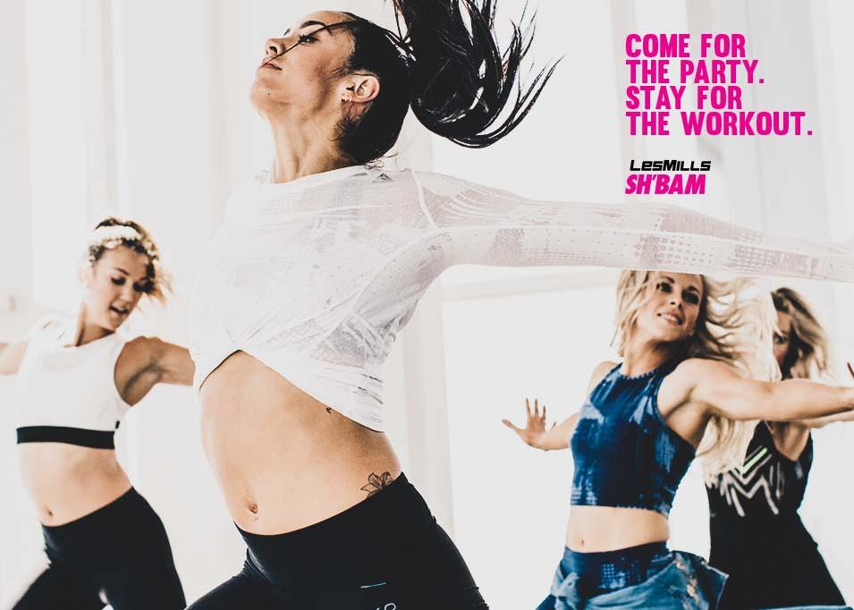 Women dancing in group
