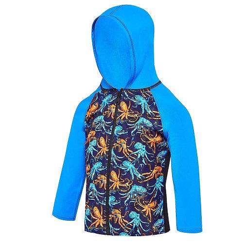 Speedo Toddler Boy's Octo Hooded Long Sleeve Rashy