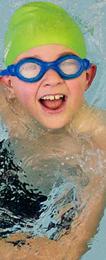 Boy learning to swim at Northern Arena, Silverdale