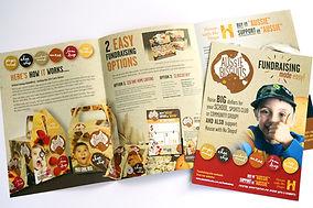 Aussie biscuits fundraising brochure design