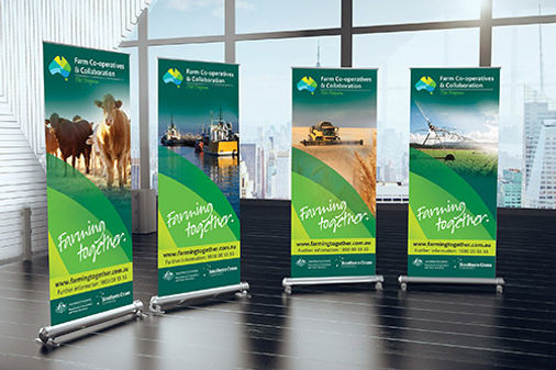 Farm Co-operatives and Collaboration Program pull up banner design