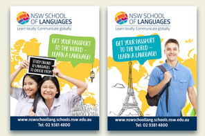 A new brand image for NSW School of Languages.