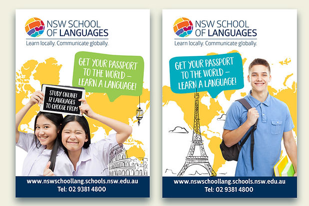 NSW School of languages Poster designs