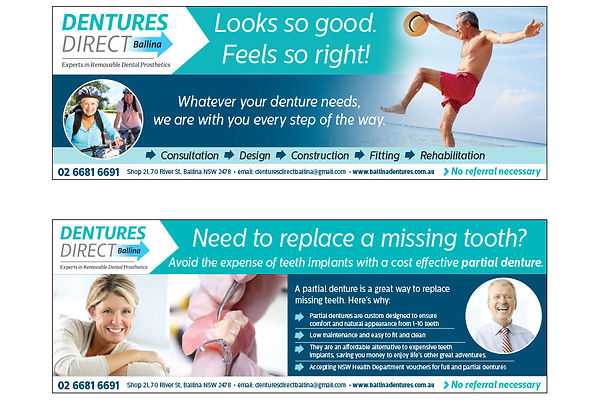 Dentures Direct Advertising campaign