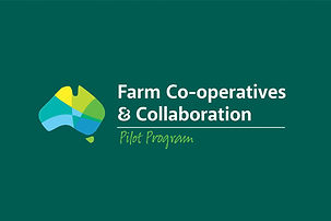 Farm Co-operatives and Collaboration project logo design