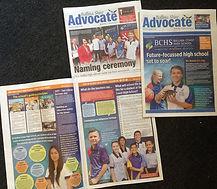 Ballina Coast High School Advocate newspaper lift out