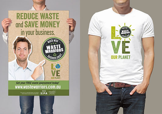 Waste Warriors brand image design and promotion
