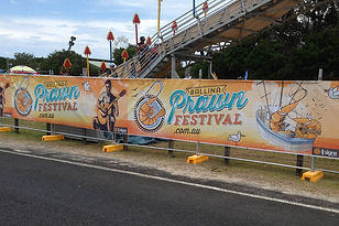 Ballina Prawn Festival Signage Design by Blue River Design