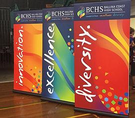 BAllina Coast High School pull up banner design
