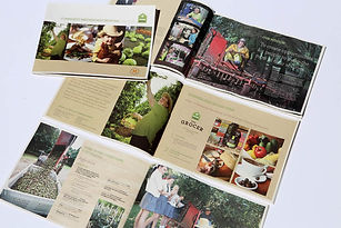 Summerland House Farm promotional brochure design