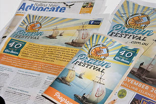 Ballina Prawn Festival Advertising and programs
