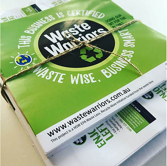 Waste Warriors certified business stickers