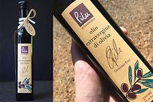 Pilu Olive Oil label design