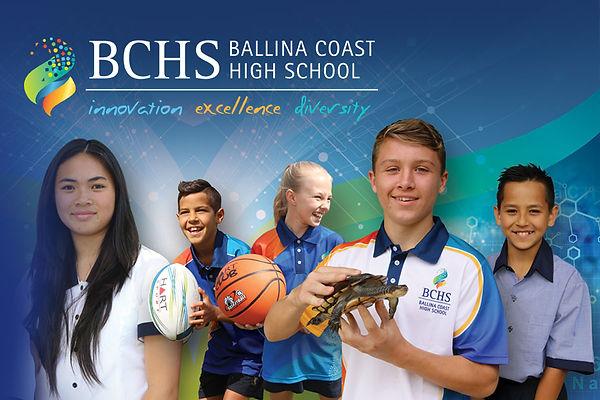 Ballina Coast High School logo and brand image
