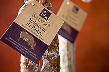 Pilu Salumi Swing tag design