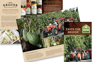 Summerland House Farm Tourism brochure design