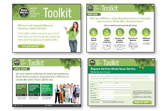Waste Warriors interactive toolkit concept design