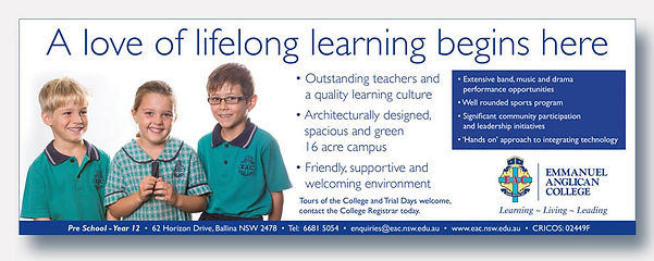 Emmanuel Anglican College Ballina Advertising
