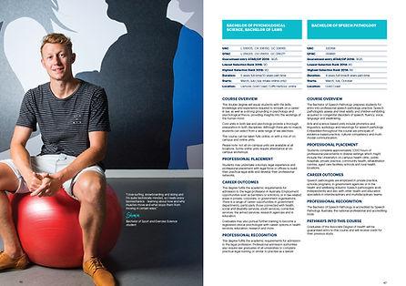 Southern Cross University Undergraduate Course Guide Design by Blue River Design