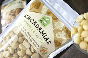 Summerland House Farm Macadamia packaging design