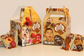 Aussie Biscuits fundraising box packaging design