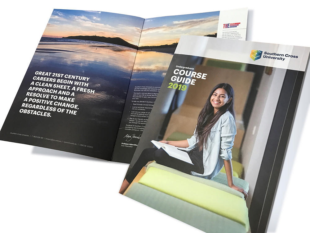 Southern Cross University Undergraduate Course Guide designed by Blue River Design